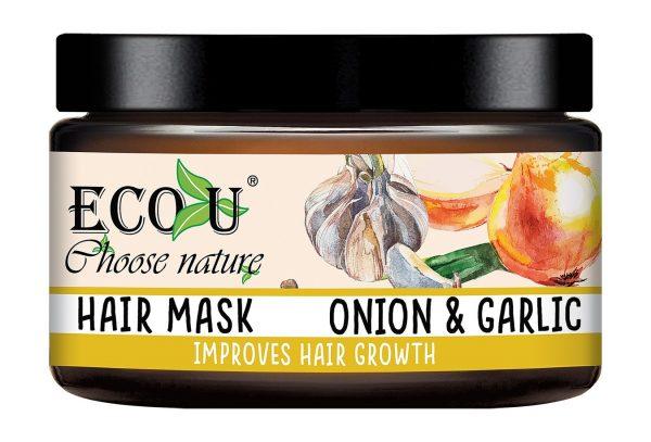 Maska za rast kose ECO U češnjak i luk 250 ml