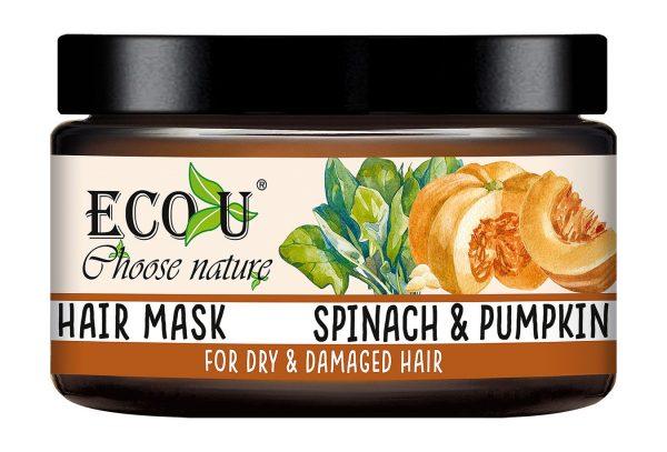 Maska za suhu i oštećenu kosu ECO U špinat i bundeva 250ml