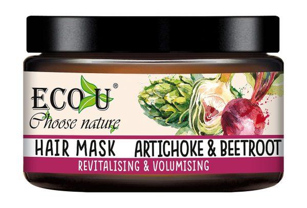 Maska za volumen i revitalizaciju kose ECO U Artičoka i cvekla 250ml
