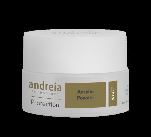 Akril prah za nadogradnju ANDREIA - White 20g