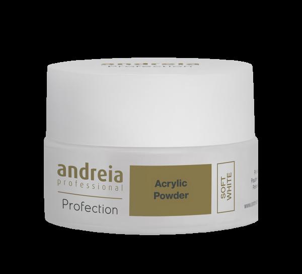 Akril prah za nadogradnju ANDREIA - Soft White 20g