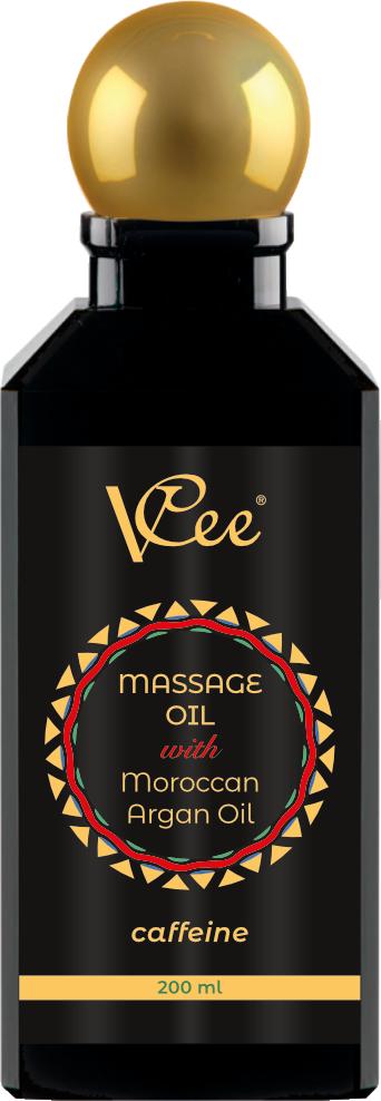 Ulje za masažu kofein sa organskim uljem Argana VCee 200 ml