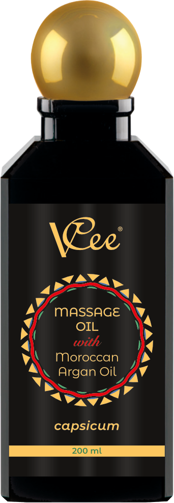 Ulje za masažu crvena paprika sa organskim uljem Argana Vcee 200 ml